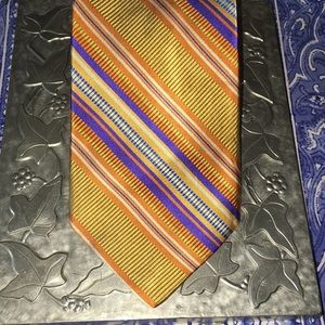 Robert Talbott best of class gold blue stripe tie